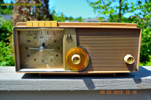 Load image into Gallery viewer, SOLD! - Oct 1, 2015 - VERY BRADY BROWN Retro Jetsons 1962 Motorola 5C16NW Tube AM Clock Radio Works! , Vintage Radio - Motorola, Retro Radio Farm  - 4