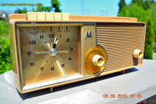 Load image into Gallery viewer, SOLD! - Oct 1, 2015 - VERY BRADY BROWN Retro Jetsons 1962 Motorola 5C16NW Tube AM Clock Radio Works! , Vintage Radio - Motorola, Retro Radio Farm  - 7