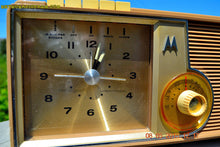 Load image into Gallery viewer, SOLD! - Oct 1, 2015 - VERY BRADY BROWN Retro Jetsons 1962 Motorola 5C16NW Tube AM Clock Radio Works! - [product_type} - Motorola - Retro Radio Farm