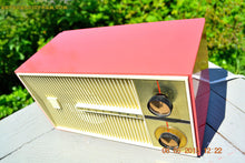 Load image into Gallery viewer, SOLD! - Feb 8, 2016 - BLUETOOTH MP3 READY - SALMON PINK Retro Jetsons Vintage 1959 Truetone Model D2832B AM Tube Radio WORKS! - [product_type} - Truetone - Retro Radio Farm