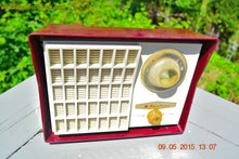 Load image into Gallery viewer, SOLD! - Aug 24, 201 - MAROON Mid Century Retro Jetsons Vintage 1959 Wards Airline Model GEN-1668A Tube Radio Totally Restored! - [product_type} - Airline - Retro Radio Farm