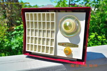 Load image into Gallery viewer, SOLD! - Aug 24, 2015 - MAROON Mid Century Retro Jetsons Vintage 1959 Wards Airline Model GEN-1668A Tube Radio Totally Restored! - [product_type} - Airline - Retro Radio Farm