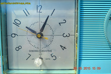 Load image into Gallery viewer, SOLD! - July 23, 2015 - POWDER BLUE Mid Century Jetsons 1959 General Electric Model C-404B Tube AM Clock Radio Totally Restored! - [product_type} - General Electric - Retro Radio Farm