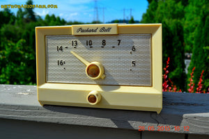 SOLD! - Sept 17, 2015 - IVORY WHITE Retro Jetsons Vintage 1956 Packard Bell 5R1 AM Tube Radio Works! , Vintage Radio - Packard-Bell, Retro Radio Farm  - 4