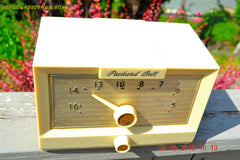 SOLD! - Sept 17, 2015 - IVORY WHITE Retro Jetsons Vintage 1956 Packard Bell 5R1 AM Tube Radio Works! , Vintage Radio - Packard-Bell, Retro Radio Farm  - 6