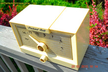 Load image into Gallery viewer, SOLD! - Sept 17, 2015 - IVORY WHITE Retro Jetsons Vintage 1956 Packard Bell 5R1 AM Tube Radio Works! - [product_type} - Packard-Bell - Retro Radio Farm