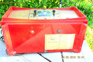 SOLD! - Aug 24, 2015 - ROSE RED Retro Jetsons Vintage 1959 Capehart Model 75C56 AM Tube Clock Radio Totally Restored! - [product_type} - Capehart - Retro Radio Farm