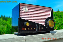 Load image into Gallery viewer, SOLD! - June 10, 2015 - AWESOME Black and Pink Retro Vintage 1957 Emerson 851 AM Tube Radio Totally Restored! , Vintage Radio - Emerson, Retro Radio Farm  - 3