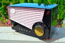 Load image into Gallery viewer, SOLD! - June 10, 2015 - AWESOME Black and Pink Retro Vintage 1957 Emerson 851 AM Tube Radio Totally Restored! , Vintage Radio - Emerson, Retro Radio Farm  - 6