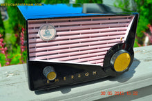 Load image into Gallery viewer, SOLD! - June 10, 2015 - AWESOME Black and Pink Retro Vintage 1957 Emerson 851 AM Tube Radio Totally Restored! , Vintage Radio - Emerson, Retro Radio Farm  - 4