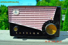 Load image into Gallery viewer, SOLD! - June 10, 2015 - AWESOME Black and Pink Retro Vintage 1957 Emerson 851 AM Tube Radio Totally Restored! , Vintage Radio - Emerson, Retro Radio Farm  - 1