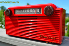 SOLD! - June 8, 2015 - BRIGHT RED Mid Century Vintage Retro Jetsons 1952 Admiral 5G35N AM Tube Radio Totally Restored! , Vintage Radio - Admiral, Retro Radio Farm  - 7