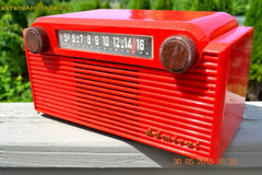 SOLD! - June 8, 2015 - BRIGHT RED Mid Century Vintage Retro Jetsons 1952 Admiral 5G35N AM Tube Radio Totally Restored! , Vintage Radio - Admiral, Retro Radio Farm  - 3