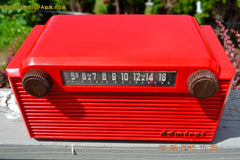 SOLD! - June 8, 2015 - BRIGHT RED Mid Century Vintage Retro Jetsons 1952 Admiral 5G35N AM Tube Radio Totally Restored! , Vintage Radio - Admiral, Retro Radio Farm  - 5