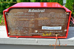 SOLD! - June 8, 2015 - BRIGHT RED Mid Century Vintage Retro Jetsons 1952 Admiral 5G35N AM Tube Radio Totally Restored! , Vintage Radio - Admiral, Retro Radio Farm  - 9