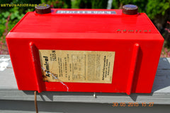 SOLD! - June 8, 2015 - BRIGHT RED Mid Century Vintage Retro Jetsons 1952 Admiral 5G35N AM Tube Radio Totally Restored! , Vintage Radio - Admiral, Retro Radio Farm  - 8
