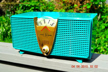 Load image into Gallery viewer, SOLD! - Dec 3, 2015 - AQUAMARINE Twin Speaker Retro Vintage 1959 Philco Model E-816-124 AM Tube Radio Totally Restored! - [product_type} - Philco - Retro Radio Farm