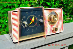 SOLD! - July 10, 2015 - POWDER PINK Mid Century Jetsons 1959 General Electric Model C-406A Tube AM Clock Radio Totally Restored! , Vintage Radio - General Electric, Retro Radio Farm  - 6