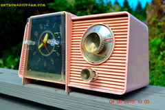 SOLD! - July 10, 2015 - POWDER PINK Mid Century Jetsons 1959 General Electric Model C-406A Tube AM Clock Radio Totally Restored! , Vintage Radio - General Electric, Retro Radio Farm  - 5