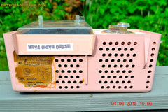 SOLD! - July 10, 2015 - POWDER PINK Mid Century Jetsons 1959 General Electric Model C-406A Tube AM Clock Radio Totally Restored! , Vintage Radio - General Electric, Retro Radio Farm  - 9