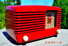 Load image into Gallery viewer, SOLD! - July 28, 2015 - LIPSTICK RED Vintage Deco Retro 1947 Philco Transitone 48-200 AM Bakelite Tube Radio Works! Wow! - [product_type} - Philco - Retro Radio Farm