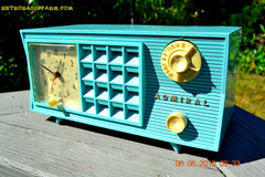 SOLD! - Nov 24, 2015 - PISTACHIO GREEN Retro Jetsons Mid Century Vintage 1955 Admiral Model 251 AM Tube Radio Totally Restored! , Vintage Radio - Admiral, Retro Radio Farm  - 6