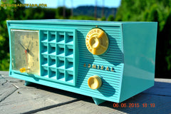SOLD! - Nov 24, 2015 - PISTACHIO GREEN Retro Jetsons Mid Century Vintage 1955 Admiral Model 251 AM Tube Radio Totally Restored! , Vintage Radio - Admiral, Retro Radio Farm  - 5
