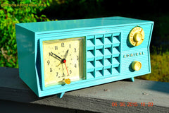 SOLD! - Nov 24, 2015 - PISTACHIO GREEN Retro Jetsons Mid Century Vintage 1955 Admiral Model 251 AM Tube Radio Totally Restored! , Vintage Radio - Admiral, Retro Radio Farm  - 4