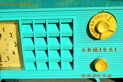 SOLD! - Nov 24, 2015 - PISTACHIO GREEN Retro Jetsons Mid Century Vintage 1955 Admiral Model 251 AM Tube Radio Totally Restored! , Vintage Radio - Admiral, Retro Radio Farm  - 9