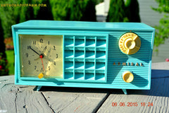 SOLD! - Nov 24, 2015 - PISTACHIO GREEN Retro Jetsons Mid Century Vintage 1955 Admiral Model 251 AM Tube Radio Totally Restored! , Vintage Radio - Admiral, Retro Radio Farm  - 3