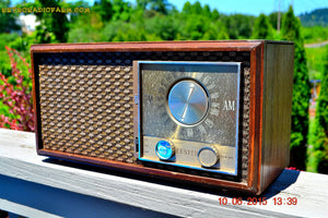 SOLD! - Aug 31, 2015 - HARDWOOD 1964 Zenith Model M730 Brown AM/FM Tube Radio Works Great! - [product_type} - Zenith - Retro Radio Farm