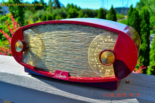 Load image into Gallery viewer, SOLD! - Nov 16, 2017 - WILD LOOKING MAROON FOOTBALL Retro Deco Modernist 1950 Sparton Model 132 AM Tube Radio Totally Restored! - [product_type} - Sparton - Retro Radio Farm