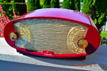 Load image into Gallery viewer, WILD LOOKING MAROON FOOTBALL Retro Deco Modernist 1950 Sparton Model 132 AM Tube Radio Totally Restored! , Vintage Radio - Sparton, Retro Radio Farm  - 3