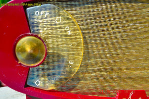 SOLD! - Nov 16, 2017 - WILD LOOKING MAROON FOOTBALL Retro Deco Modernist 1950 Sparton Model 132 AM Tube Radio Totally Restored! - [product_type} - Sparton - Retro Radio Farm