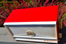 Load image into Gallery viewer, SOLD! - Dec 8, 2016 - BLUETOOTH MP3 READY - Red and White Mid Century Retro Jetsons 1957 Truetone Model DC2854 Tube AM Radio Works! - [product_type} - Truetone - Retro Radio Farm
