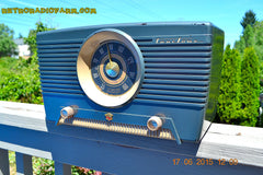 SOLD! - Aug 4, 2015 - GUNMETAL GREEN Mid Century Retro Jetsons 1954 Truetone Model D2637 Tube AM Radio Works! , Vintage Radio - Truetone, Retro Radio Farm  - 4