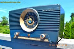 SOLD! - Aug 4, 2015 - GUNMETAL GREEN Mid Century Retro Jetsons 1954 Truetone Model D2637 Tube AM Radio Works! , Vintage Radio - Truetone, Retro Radio Farm  - 6