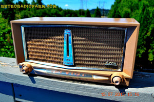 SOLD! - June 16, 2016 - SANDLEWOOD Mid Century Retro Jetsons 1959 Arvin Model 956T Tube AM Radio Works! - [product_type} - Arvin - Retro Radio Farm