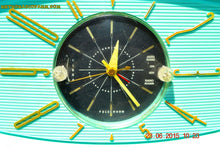 Load image into Gallery viewer, SOLD! - Nov 24, 2015 - BLUETOOTH MP3 READY - Aquamarine Retro Jetsons 1959 Westinghouse Model H671T5 Tube AM Clock Radio Totally Restored! , Vintage Radio - Westinghouse, Retro Radio Farm  - 8