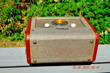 Load image into Gallery viewer, SOLD! - Aug 14, 2015 - BLUETOOTH MP3 READY - Cool Jazz Portable Retro 1951 Airline Model 25-GHM Tube AM Radio Works! - [product_type} - Airline - Retro Radio Farm