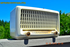 SOLD! - Sept 6, 2015 - BLUETOOTH MP3 READY - Post War Industrial Ivory Retro Deco 1951 Wards Airline Model 15BR-1544A Tube Radio Totally Restored! , Vintage Radio - Airline, Retro Radio Farm  - 1