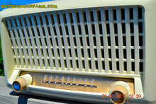 Load image into Gallery viewer, SOLD! - Sept 6, 2015 - BLUETOOTH MP3 READY - Post War Industrial Ivory Retro Deco 1951 Wards Airline Model 15BR-1544A Tube Radio Totally Restored! , Vintage Radio - Airline, Retro Radio Farm  - 10