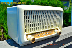 SOLD! - Sept 6, 2015 - BLUETOOTH MP3 READY - Post War Industrial Ivory Retro Deco 1951 Wards Airline Model 15BR-1544A Tube Radio Totally Restored! , Vintage Radio - Airline, Retro Radio Farm  - 4