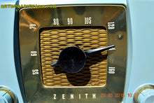 Load image into Gallery viewer, SOLD! - July 23, 2015 - BLUETOOTH MP3 READY -  Slate Grey Retro Mid Century Deco Vintage 1951 Zenith H615 AM Tube Radio Sounds Great! - [product_type} - Zenith - Retro Radio Farm