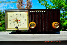 Load image into Gallery viewer, SOLD! - Aug 14, 2015 - BLUETOOTH MP3 READY - EXPRESSO Retro Mid Century Jetsons 1956 Motorola 57CE Tube AM Clock Radio Totally Restored! - [product_type} - Motorola - Retro Radio Farm