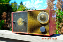 Load image into Gallery viewer, SOLD! - Feb 21, 2016 - RUBY RED GRAPEFRUIT Pink Retro Jetsons 1956 Philco E742-124 Tube AM Clock Radio Works! - [product_type} - Philco - Retro Radio Farm