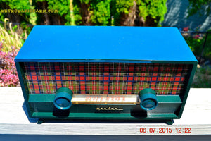 SOLD! - Aug 3, 2015 - SCOTTISH TARTAN Green Retro Vintage 1954 Capehart Model T-54 AM Tube Radio Totally Restored! - [product_type} - Capehart - Retro Radio Farm