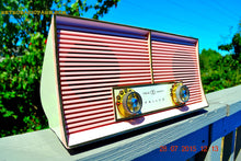 Load image into Gallery viewer, SOLD! - Dec 26, 2015 - FLAMINGO PINK Twin Speaker Retro Vintage 1959 Philco Model JB46-124 AM Tube Radio Totally Restored! - [product_type} - Philco - Retro Radio Farm