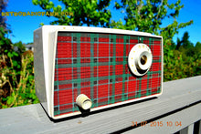 Load image into Gallery viewer, SOLD! - Sept 9, 2015 - MAD FOR PLAID! Mid Century Retro Vintage 1956 Westinghouse H503T5A Tube AM Radio WORKS! , Vintage Radio - Westinghouse, Retro Radio Farm  - 1