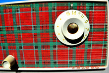Load image into Gallery viewer, SOLD! - Sept 9, 2015 - MAD FOR PLAID! Mid Century Retro Vintage 1956 Westinghouse H503T5A Tube AM Radio WORKS! , Vintage Radio - Westinghouse, Retro Radio Farm  - 8